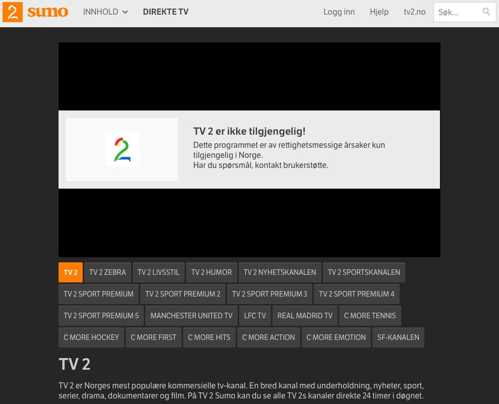 TV2 er ikke tilgjengelig! Dette programmet er av rettighetsmessige årsaker kun tilgjengelig i Norge. Har du spørsmål, kontakt brukerstøtte.